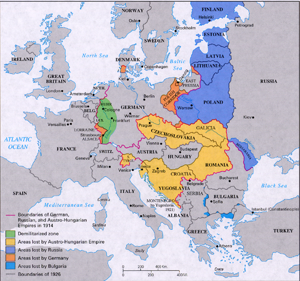 End of war the great war world war i picture european territorial changes after great war gumiabroncs Gallery